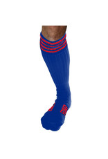 RoB Boot Socks Blue with Red Stripes