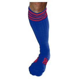 RoB Boot Socks blauw met rode strepen