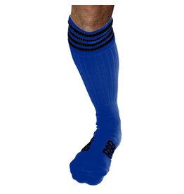 RoB Boot Socks blauw met zwarte strepen