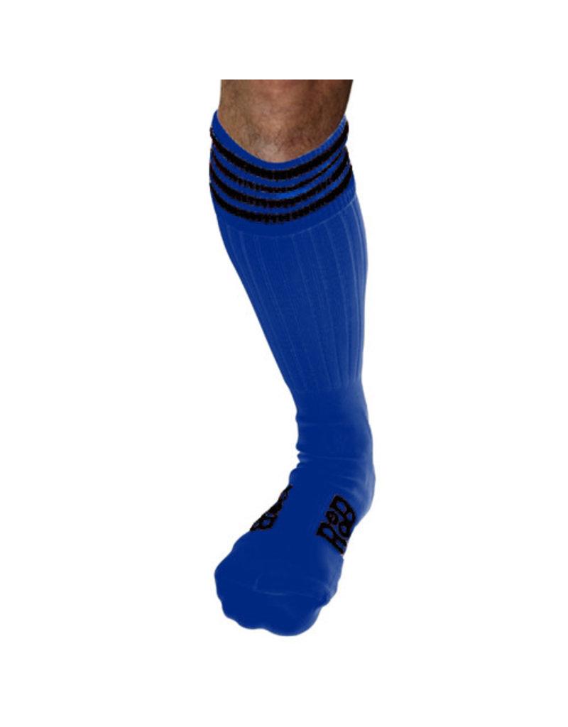 RoB Boot Socks Blue with Black Stripes