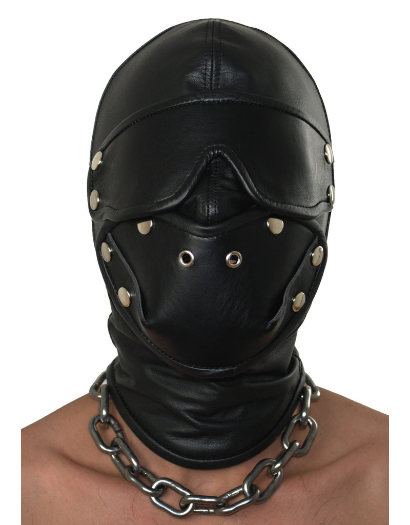 RoB Leren masker dubbel gevoerd