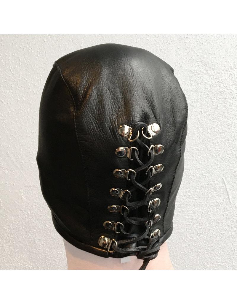 RoB Leder Guillotine Maske mit Riemen