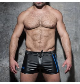 Addicted Double Stripe Rocky Shorts Black/Blue