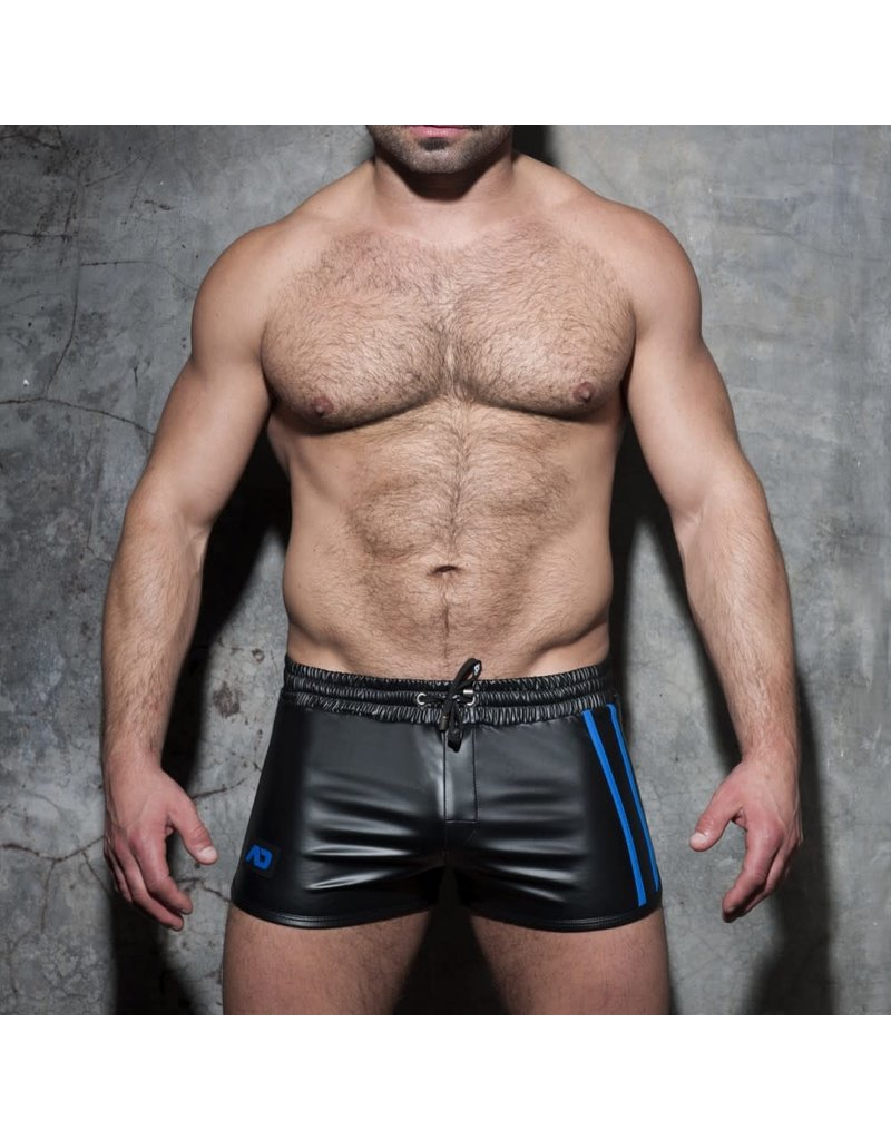 Addicted Double Stripe Rocky Shorts Black/Blue