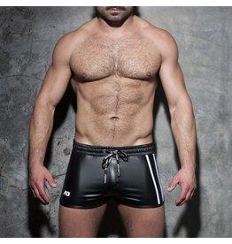 Addicted Double Stripe Rocky Shorts Black/White