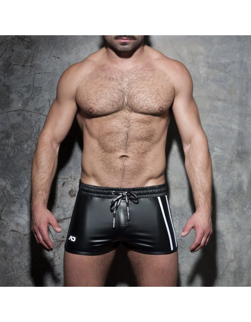 Addicted Double Stripe Rocky Shorts Black/White