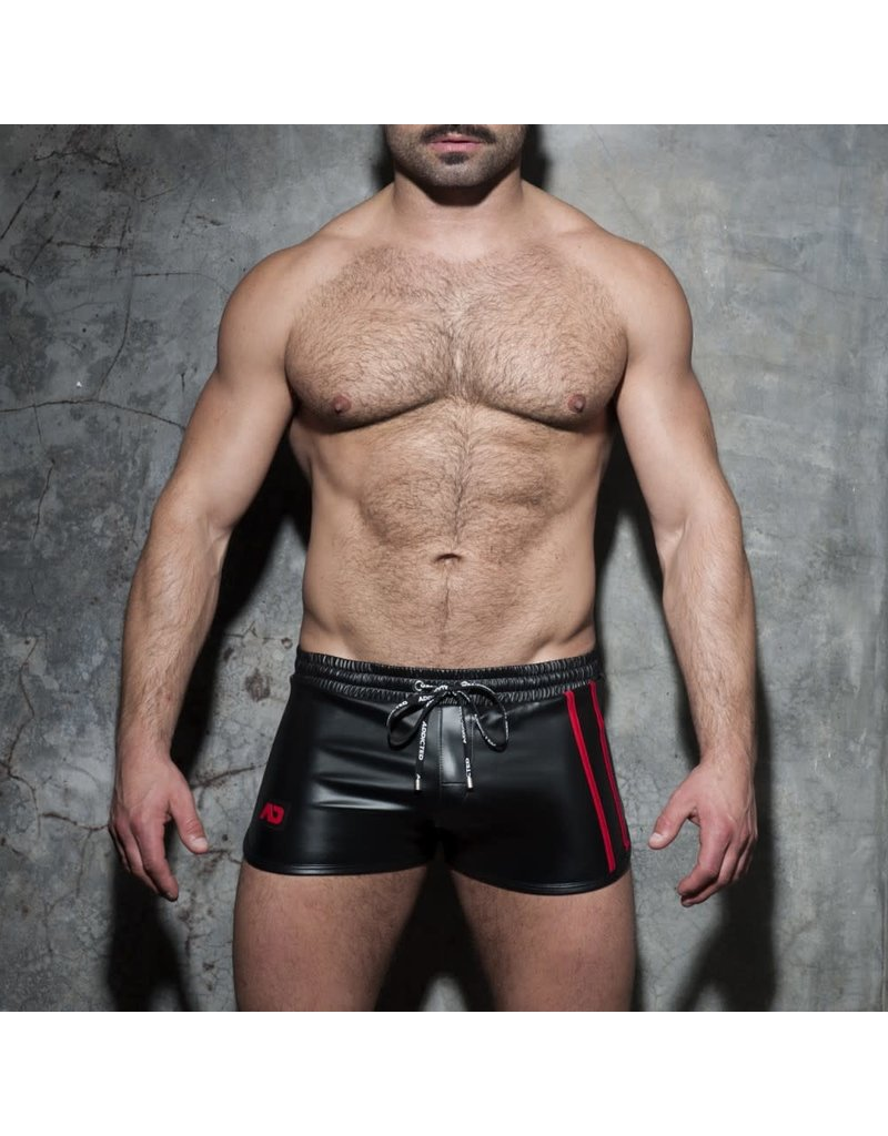 Addicted Double Stripe Rocky Shorts Black/Red