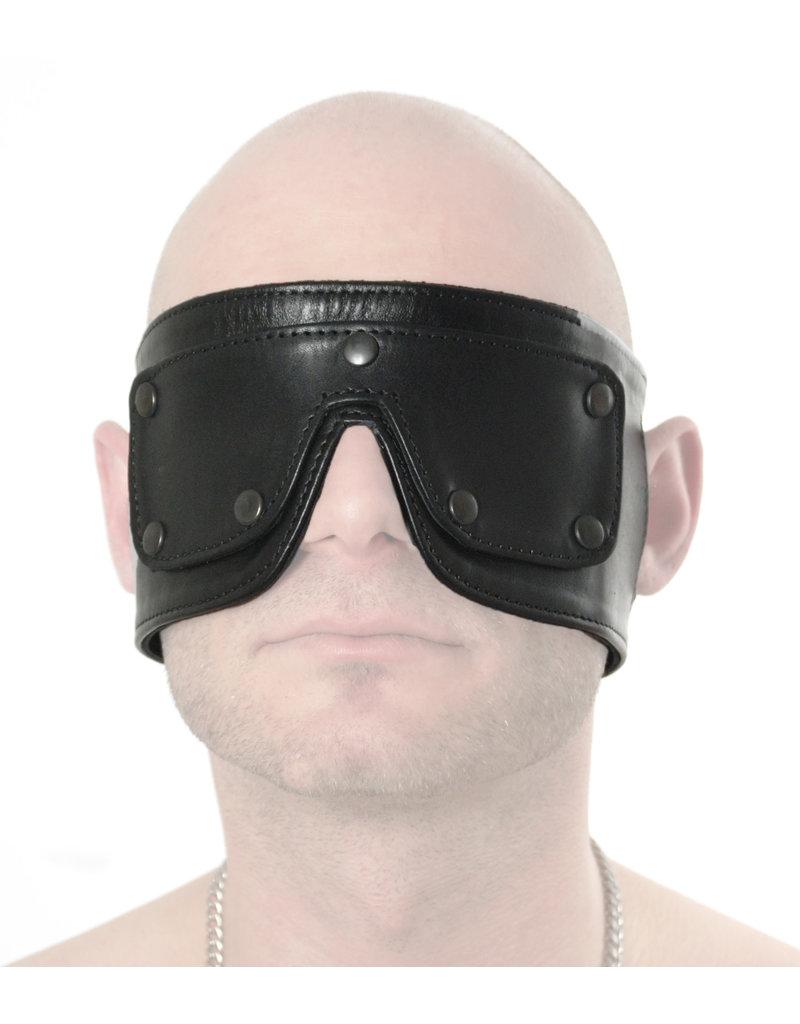 RoB Zachte leren blinddoek met afneembare ogen
