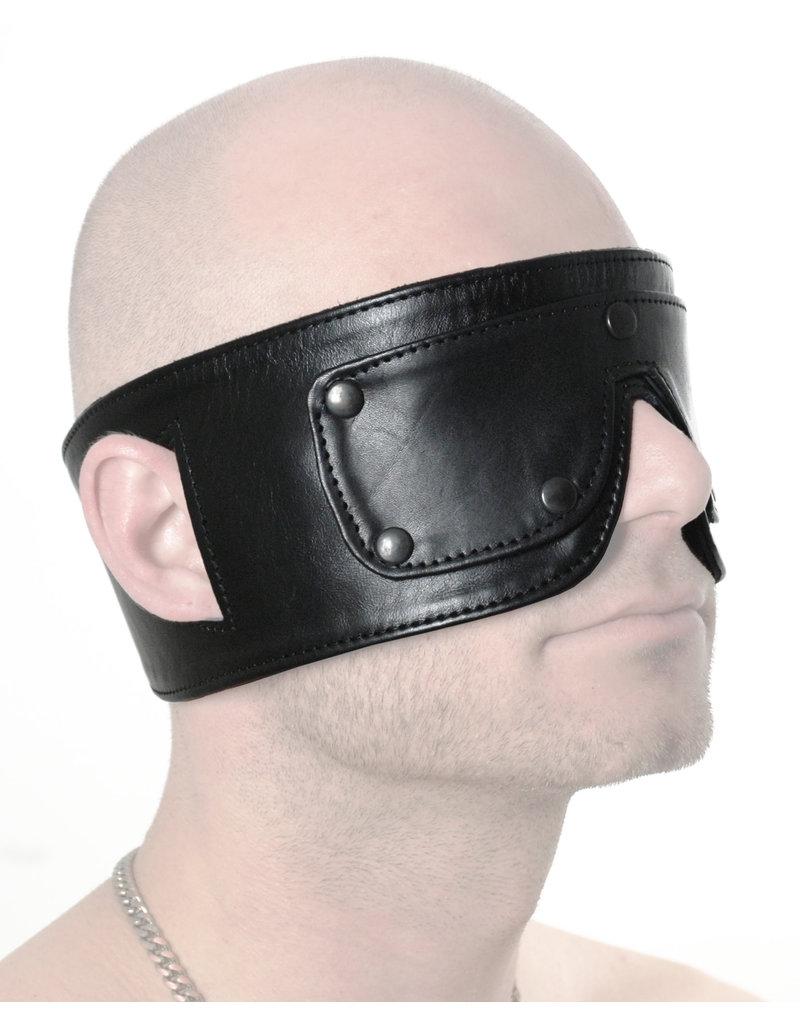 RoB Leren blinddoek met afneembare ogen