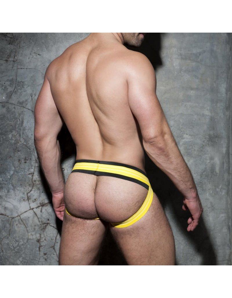 Addicted Double Stripe Jock Black/Yellow