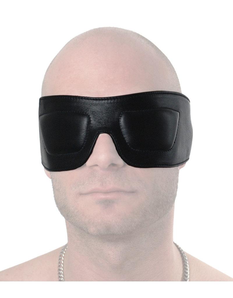 RoB Leren blinddoek met gewatteerde ogen