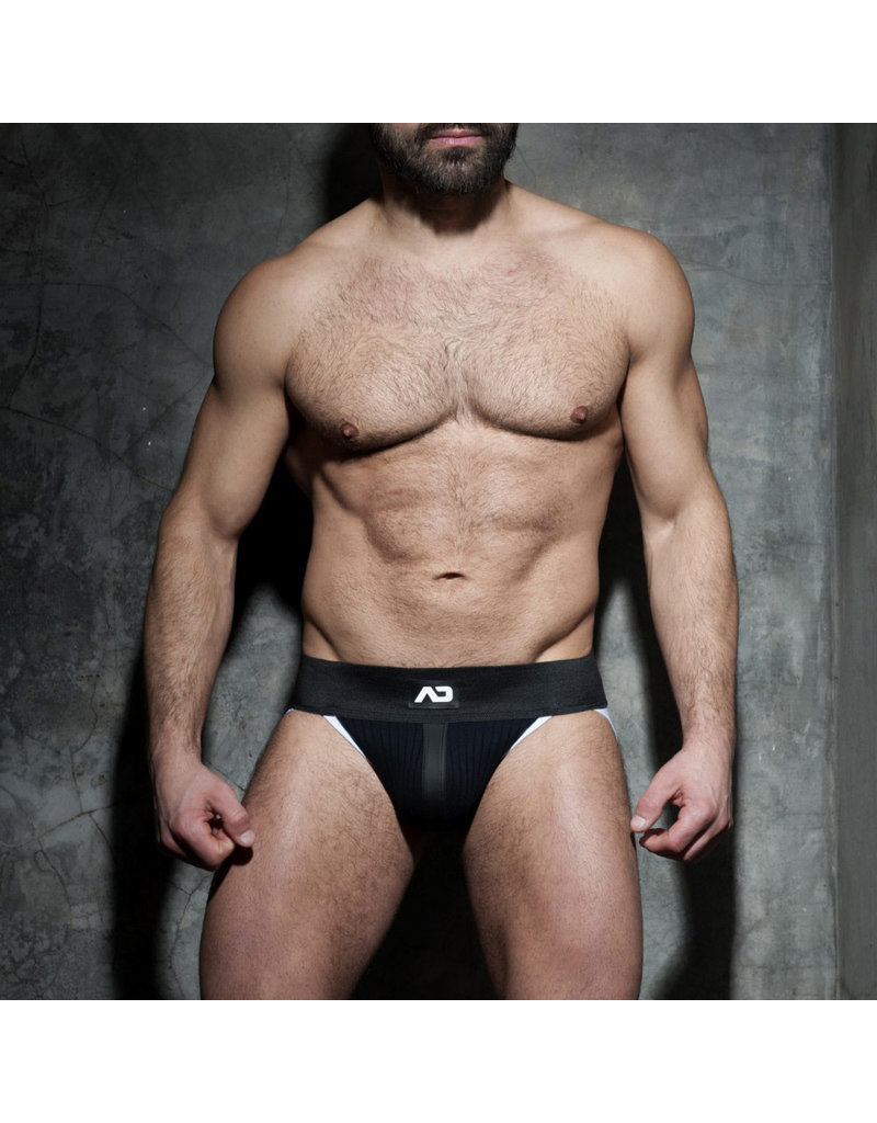 Addicted Rib Jock Black/White