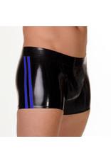 RoB Gummi Short mit durchgehender Reißverschluss und blauen Streifen
