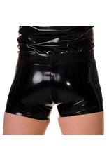 RoB Rubber shorts met doorlopende rits en zwarte strepen