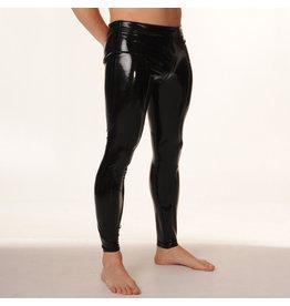 RoB Rubber legging met doorlopende rits en zwarte strepen