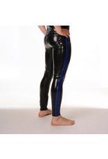 RoB Gummi Legging mit durchgehender Reißverschluss und blauen Streifen