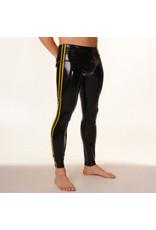 RoB Gummi Legging mit durchgehender Reißverschluss und gelben Streifen