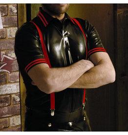 RoB Gummi Poloshirt mit roten Streifen