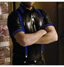 RoB Gummi Poloshirt mit blauen Streifen