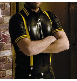 RoB Gummi Poloshirt mit gelben Streifen
