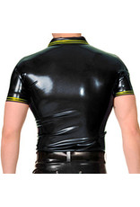 RoB Rubber polo shirt met gele strepen