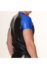 RoB Rubber t-shirt met blauwe mouwen