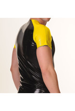 RoB Rubber t-shirt met gele mouwen