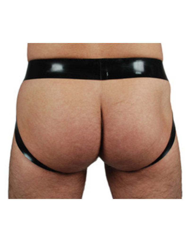 RoB Rubber jockstrap with double white stripes