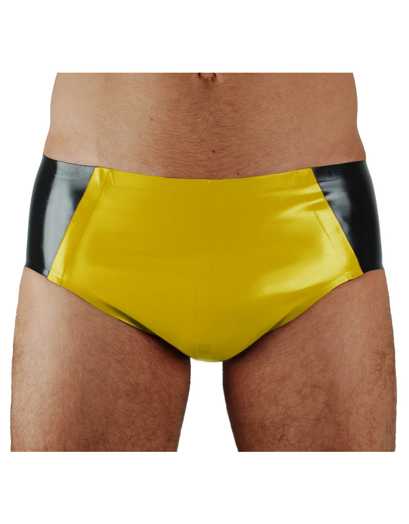 RoB Rubber Sport brief with yellow pouch