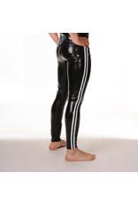 RoB Gummi Legging mit durchgehender Reißverschluss und weißen Streifen