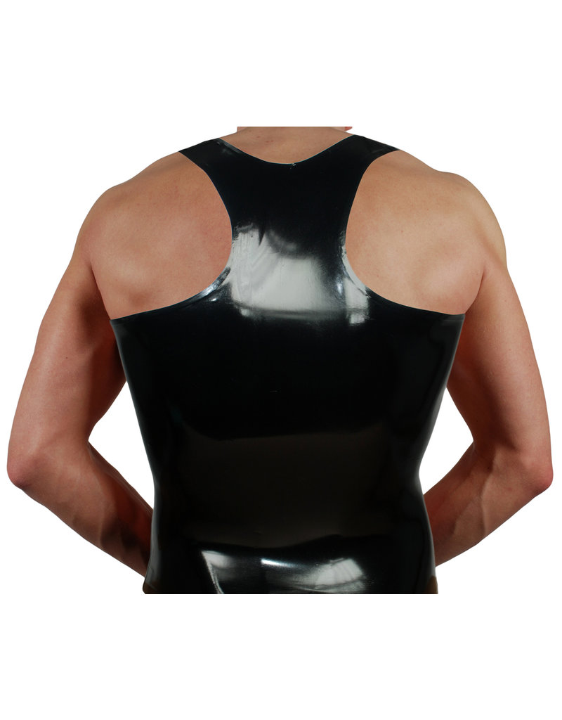 RoB Rubber Y-back singlet with white stripes