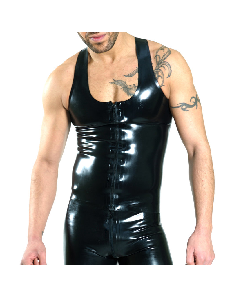 RoB Rubber Y-back singlet with front zip