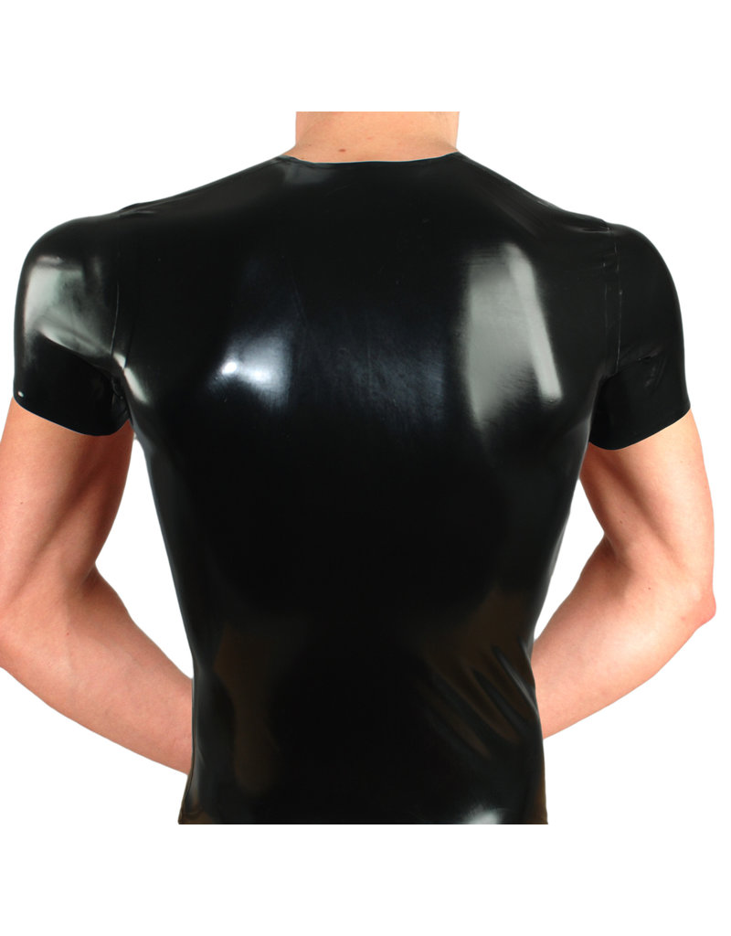 RoB Rubber T-Shirt with front zip