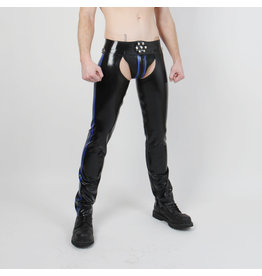 RoB Rubber Chaps with blue stripes