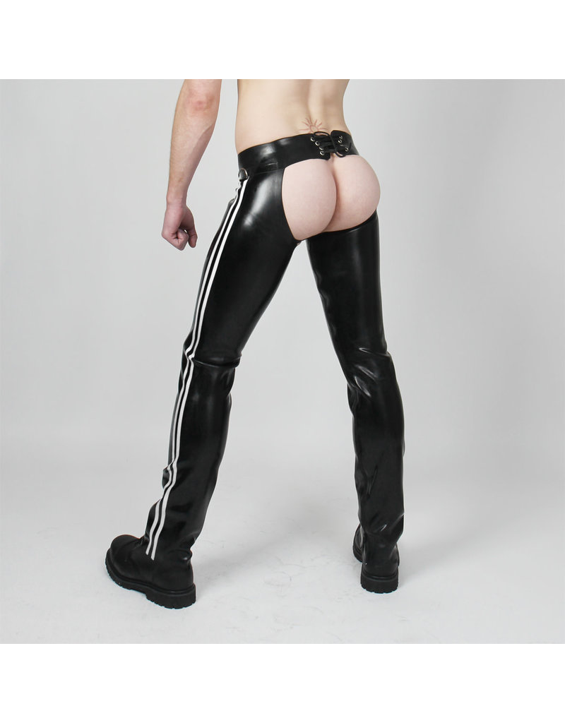 RoB Rubber Chaps with white stripes