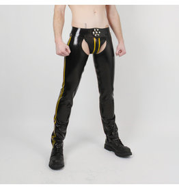 RoB Rubber Chaps with yellow stripes