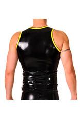 RoB Gummi Weste mit Reißverschluss und gelbem Rand