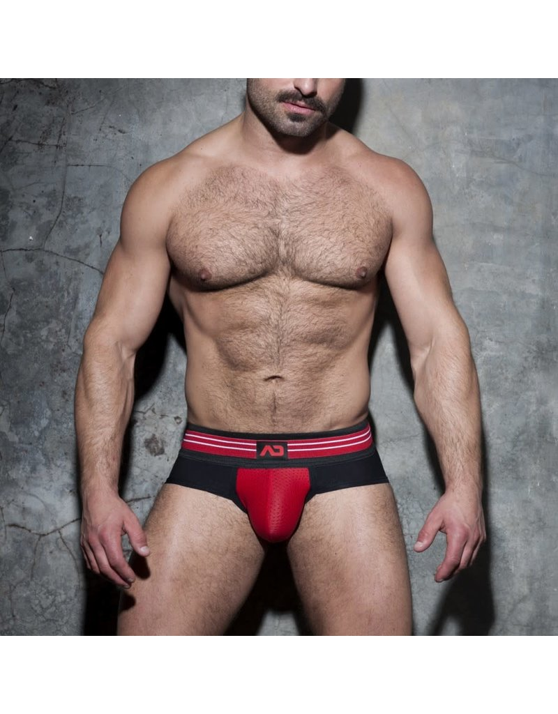 Addicted Double Stripe Brief Black/Red