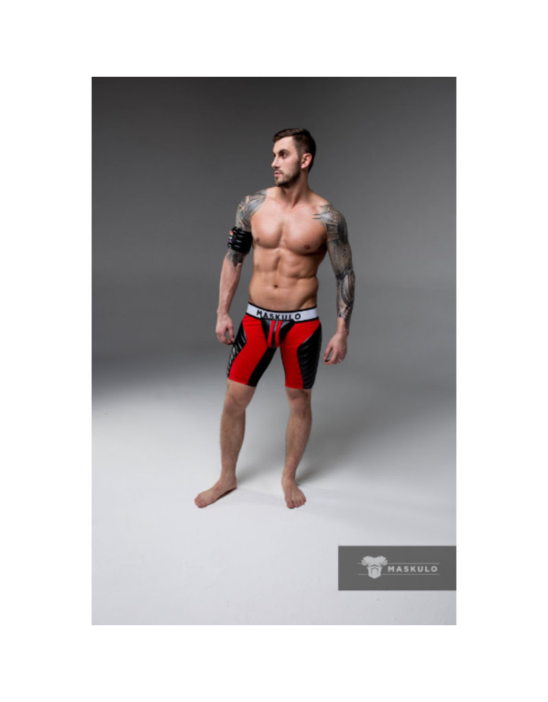 Maskulo Shorts Red Open Rear