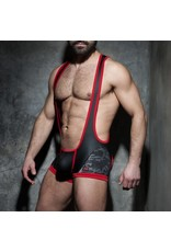Addicted Camo mesh open singlet red