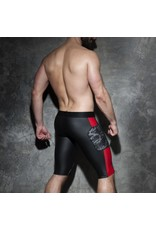Addicted Camo Mesh Shorts black with red