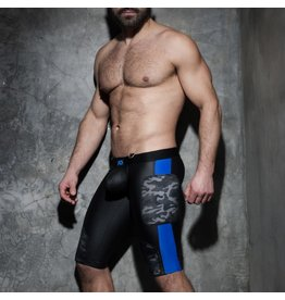 Addicted Camo Mesh Shorts black with blue