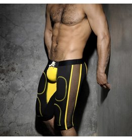Addicted Bottomless Fetish Knee Pants Black/Yellow