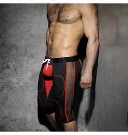 Addicted Bottomless Fetish Knee Pants Black/Red