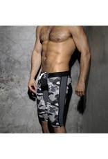 Addicted Fetish Knee Length Pant Camouflage Open Back
