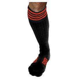 RoB Boot Socks zwart met oranje strepen