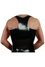RoB Rubber Y-back singlet with brown stripes