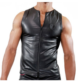 ToF Paris Zipped Tank Top Fetish Black