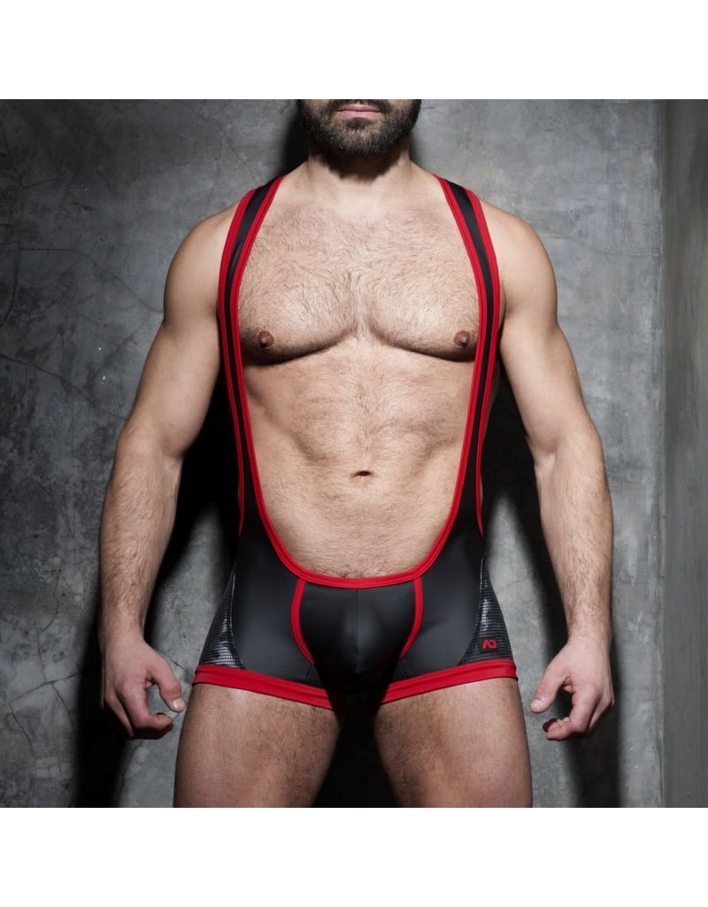 Addicted Camo-Mesh Singlet Red