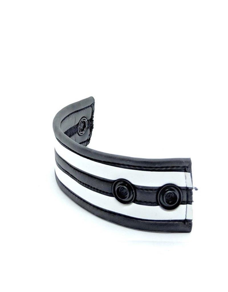 665 Neoprene Racer Ball Strap Black/White